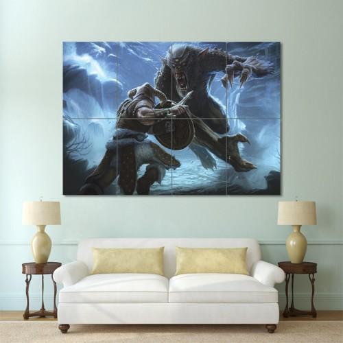 โปสเตอร์ ขนาดใหญ่  เกมส์ The Elder Scrolls V Skyrim