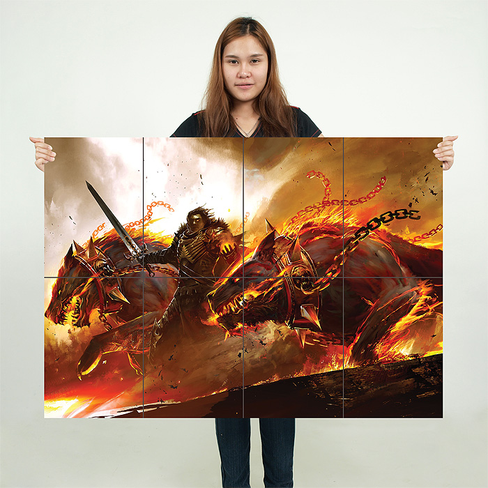Guild Wars 2 Video Games Block Giant Wall Art Poster