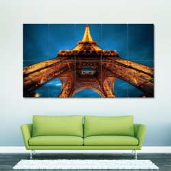 Eiffel Tower Bottom View Block Giant Wall Art Poster (P-0319)