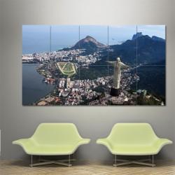 Brazil Rio de Janeiro Carioca Block Giant Wall Art Poster (P-0322)