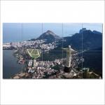 Brazil Rio de Janeiro Block Giant Wall Art Poster