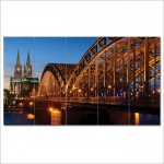Cathedral and Hohenzollern Bridge Block Giant Wall Art Poster