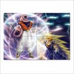 โปสเตอร์ ขนาดใหญ่ การ์ตูน ดราก้อนบอล   Goku vs Majin buu