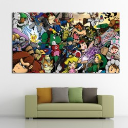 Super Smash Bros Video Games Block Giant Wall Art Poster (P-0334)