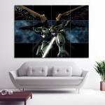 โปสเตอร์ ขนาดใหญ่ การ์ตูน อนิเมะ Gundam Wing กันดั้มวิง