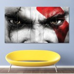 Kratos Eyes God of War Block Giant Wall Art Poster