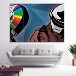 Music Daft Punk Block Giant Wall Art Poster