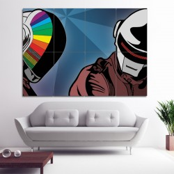 Daft Punk Music Block Giant Wall Art Poster (P-0356)