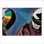 โปสเตอร์ ขนาดใหญ่ ภาพดีเจ  Daft Punk ดาฟต์พังก์