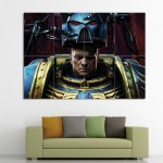 Space Marines Warhammer Block Giant Wall Art Poster