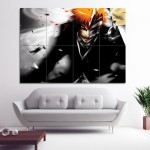 Bleach Hollow Kurosaki Ichigo Block Giant Wall Art Poster