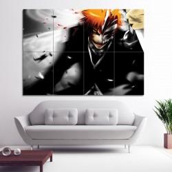 Bleach Kurosaki Ichigo  Block Giant Wall Art Poster (P-0362)