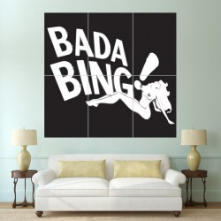 The Sopranos Bada Bing Club Block Giant Poster (P-0365)