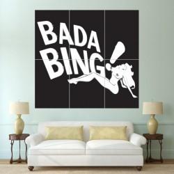 โปสเตอร์ ขนาดใหญ่ ภาพ The Sopranos Bada Bing Club  (P-0365)