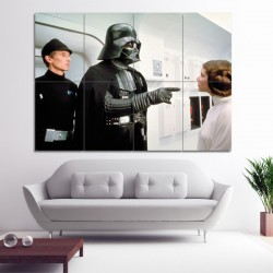 Darth Vader Leia Star Wars Block Giant Wall Art Poster (P-0367)