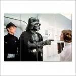 โปสเตอร์ ขนาดใหญ่  หนัง Darth Vader Leia Star Wars สตาร์วอส   เจ้าหญิงเลอา  ดาร์ธเวเดอร์