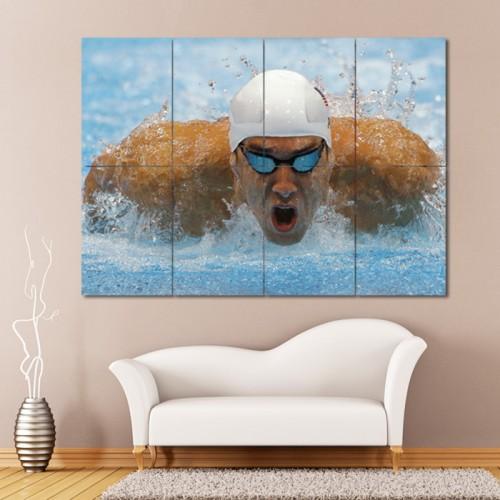 โปสเตอร์ ขนาดใหญ่ ภาพนักกีฬา Michael Phelps ไมเคิล เฟ็ลปส์