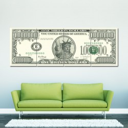 US $ Million Dollar Note Block Giant Wall Art Poster (P-0372)