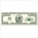 โปสเตอร์ ขนาดใหญ่ ธนบัตรดอลล่าร์สหรัฐา US $ Million Dollar Note