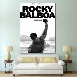 Rocky Balboa Boxing  Block Giant Wall Art Poster (P-0373)