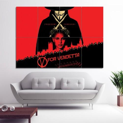 โปสเตอร์ ขนาดใหญ่ หนัง V For Vendetta Natalie Portman