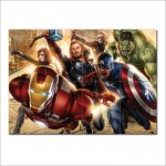 Avengers Super Heroes Block Giant Wall Art Poster