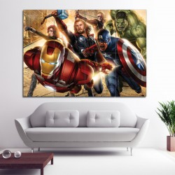 Avengers Super Heroes Block Wall Art Poster (P-0376)