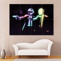 Daft Punk Pulp Fiction Block Giant Wall Art Poster (P-0383)