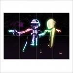 Daft Punk Pulp Fiction Block Giant Wall Art Poster