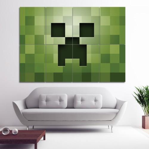 โปสเตอร์ ขนาดใหญ่ เกมส์มายคราฟ Minecraft Green PC Game