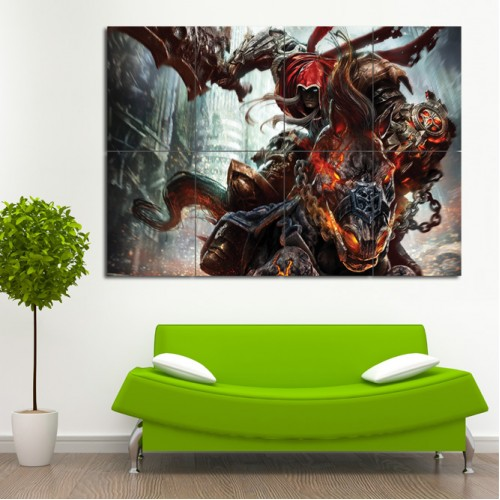 Darksiders Wrath Of War Block Giant Wall Art Poster