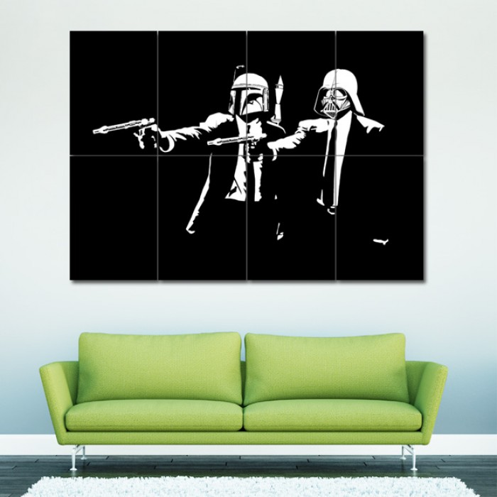 Star Wars Pulp Fiction , Block Giant Wall Art Poster
