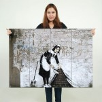 Banksy Maid Block Giant Wall Art Poster