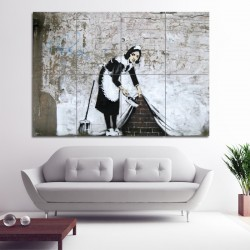 Banksy Maid  Block Giant Wall Art Poster (P-0391)