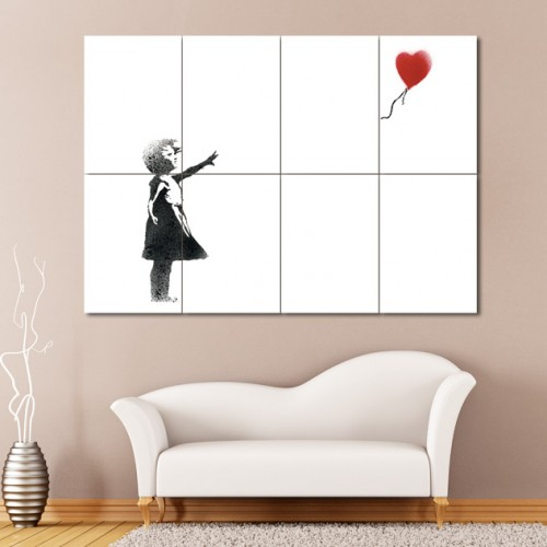 Balloon Girl , Banksy  Block Giant Wall Art Poster