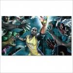 LA Lakers 24 Kobe Bryant   Block Giant Wall Art Poster
