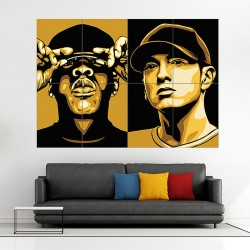 Jay Z and Eminem Block Giant Wall Art Poster (P-0397)