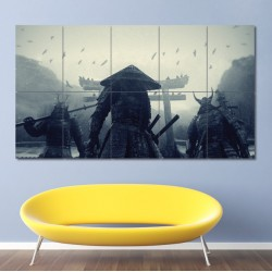 Asian Warriors Samurai Japan Block Giant Wall Art Poster (P-0400)
