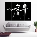 Daft Punk , Pulp Fiction  , Wand-Kunstdruck, Riesenposter , Poster