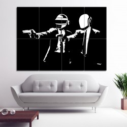 Daft Punk Pulp Fiction Block Giant Wall Art Poster (P-0401)