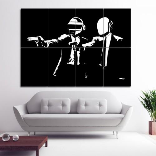 โปสเตอร์ ขนาดใหญ่ ภาพดีเจ Daft Punk Pulp Fiction ดาฟต์พังก์