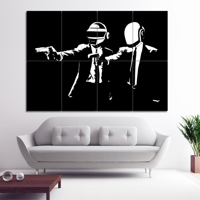 Daft Punk Pulp Fiction Block Giant Wall Art Poster
