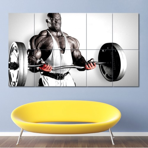 Bodybuilding Ronnie Coleman Block Giant Wall Art Poster