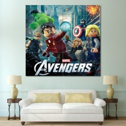 LEGO The Avengers Block Giant Wall Art Poster (P-0405)