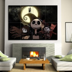 Nightmare Before Christmas Block Giant Wall Art Poster (P 0408) Part 89