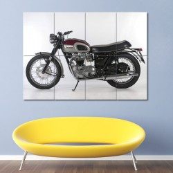 Triumph T120 Bonneville Motorcycle Block Giant Wall Art Poster (P-0410)