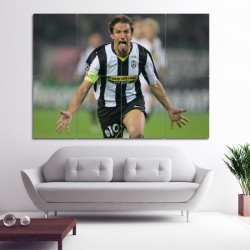 Alessandro Del Piero Block Giant Wall Art Poster (P-0414)