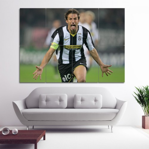 Alessandro Del Piero  Block Giant Wall Art Poster