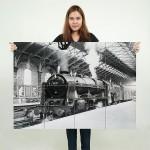 โปสเตอร์ ขนาดใหญ่ ภาพ Old Steam Train 1962 รถจักรไอน้ำ