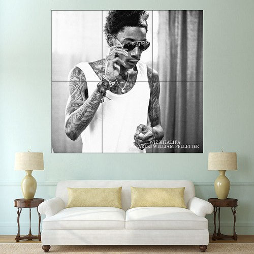 Wiz Khalifa Block Giant Wall Art Poster